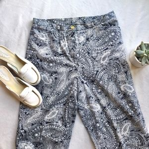 Lauren by Ralph Lauren Paisley Crop Pants Size 8